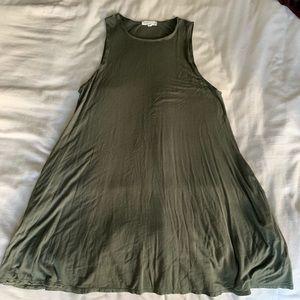 Green trapeze dress!
